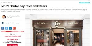 Digital feature restaurant review Chrissie McClatchie journalist