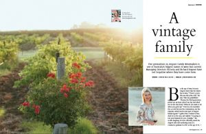 Editorial interview Angove Family Winemakers Chrissie McClatchie journalist