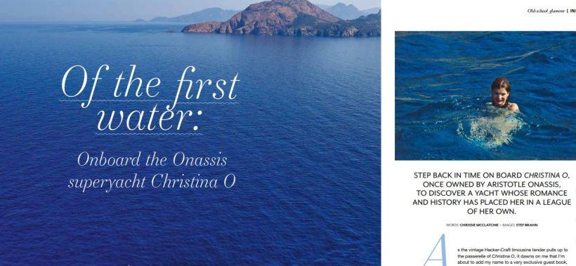 Editorial feature Christina O yacht Chrissie McClatchie journalist